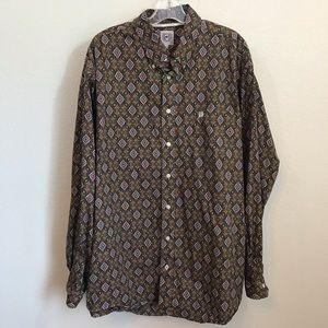 Cinch Button Down Shirt Sz XL 100% Cotton Western